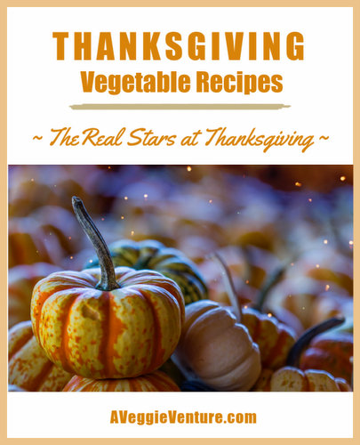 Our Best Thanksgiving Vegetable Recipes ♥ AVeggieVenture.com, from vegetable side dishes to make-ahead casseroles to slow cooker vegetables to vegetables for a crowd to vegetarian main dishes to salads to appetizers and even pies.