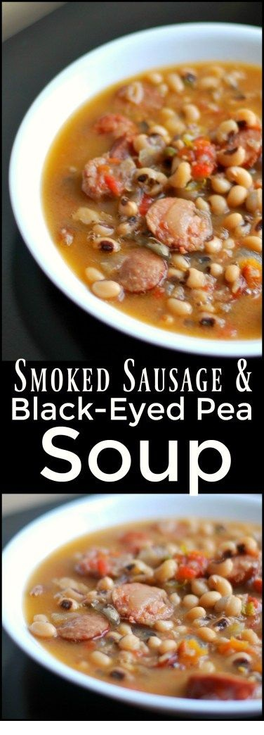 Smoked Sausage & Black-Eyed Pea Soup