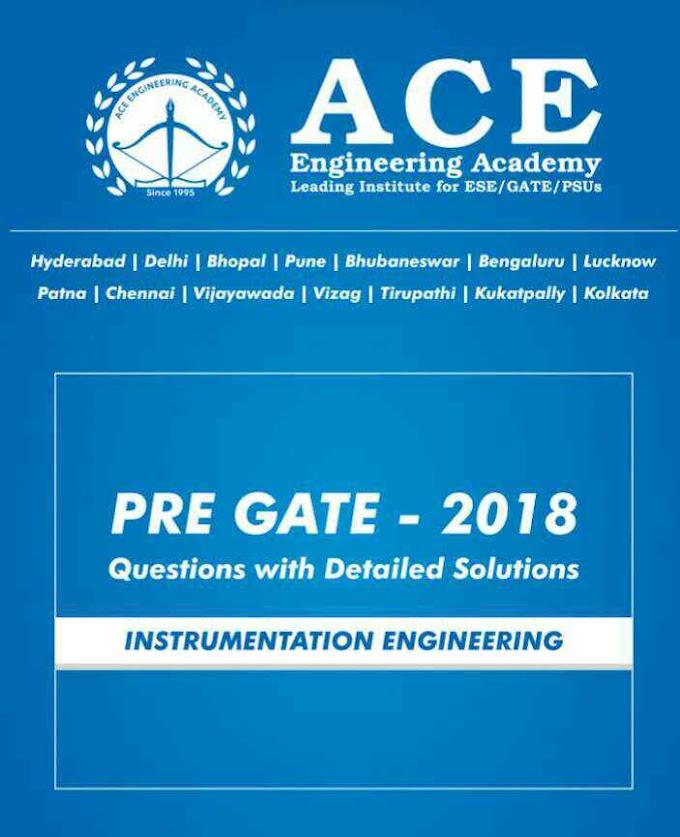 ACE ACADEMY PRE GATE 2018[INSTRUMENTATION ENGINEERING]