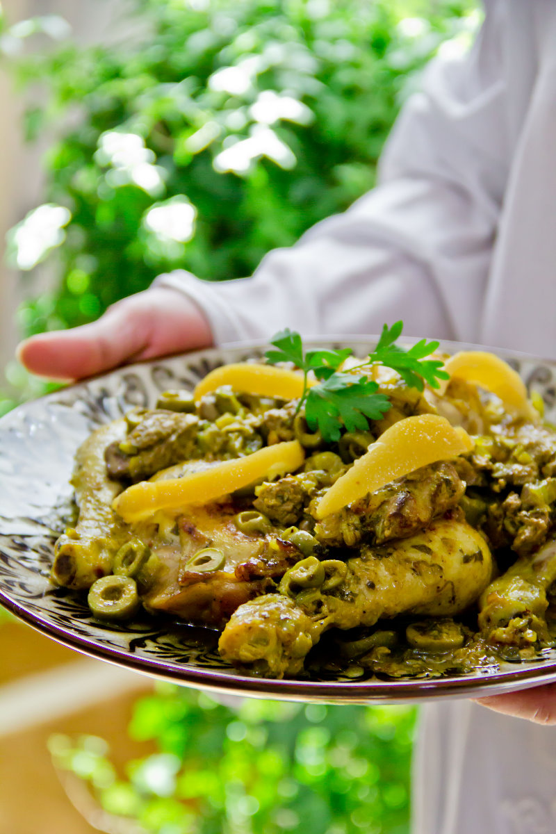 Roast Chicken With The Moroccan Way,