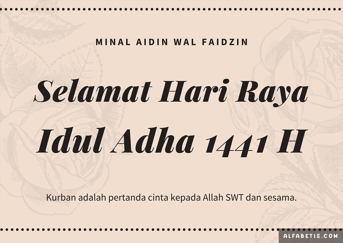 Download Kartu Ucapan Idul Adha Terbaru