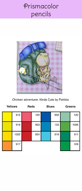 Prismacolor chart for chicken adventurer digital stamp