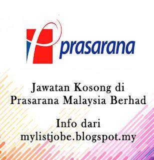 Jawatan Kosong Terkini di Prasarana Malaysia Berhad - 09 September 2016