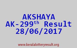 AKSHAYA Lottery AK 299 Results 28-6-2017
