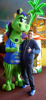 Richard and the Skegness Pier mascot