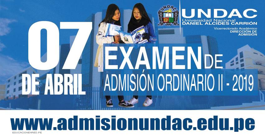 Resultados UNDAC 2019-2 (Domingo 7 Abril) Lista de Ingresantes - Examen de Admisión Ordinario - Universidad Nacional Daniel Alcides Carrión | www.admisionundac.edu.pe | www.undac.edu.pe