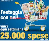 Logo Da Eurospin vinci 25.000 spese ogni settimana e sacchetti di prodotti