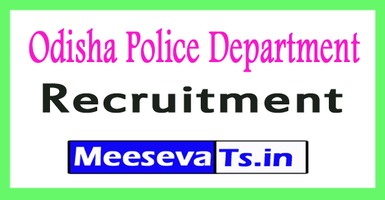 Odisha Police Recruitment Notification 2017