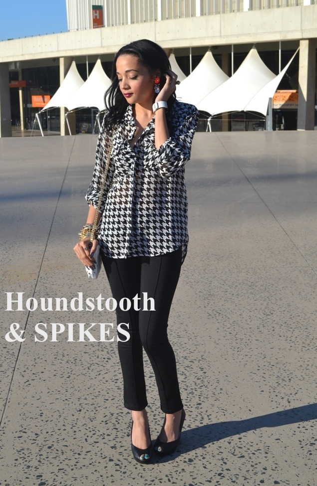 Monochrome Monday: Houndstooth & Spikes