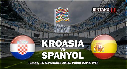 Prediksi Kroasia vs Spanyol 16 November 2018