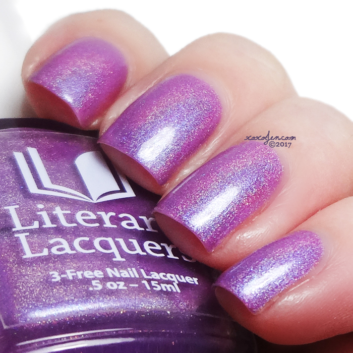 xoxoJen's swatch of Literary Lacquers Hope Is the Thing with Feathers