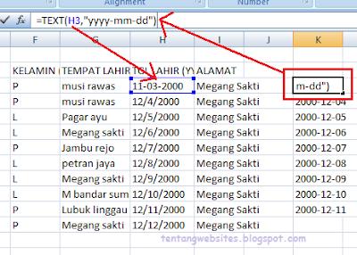 Cara Merubah Format (Date) Ke Text