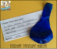 These 3 activities are perfect for the end of the school year. Students can create a time capsule with the free download, teachers can offer special awards and students can write down their wishes for next year.
