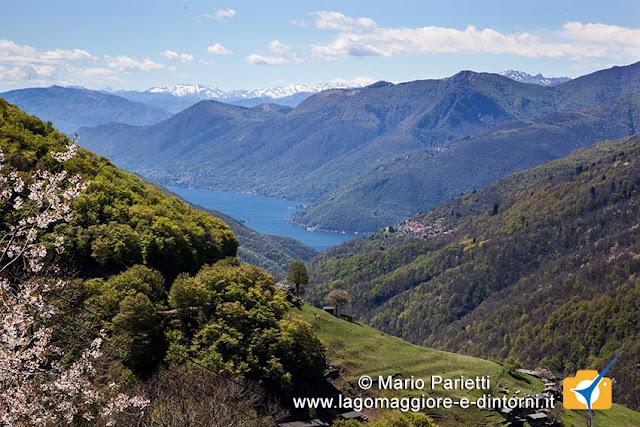 Panorama da Monteviasco con il lago maggiore