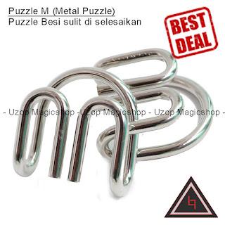 Jual alat sulap metal Puzzle M