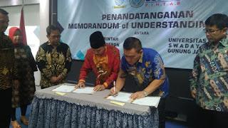 Penandatanganan Memorandum  Of Understanding (MOU) Antara Pemerintah Kota Cirebon Dengan Universitas Swadaya Gunung  Jati