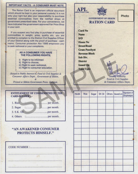 APL Ration Card