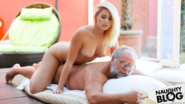 Grandpas Fuck Teens – Aria Logan: Grandpa Got Me Wet