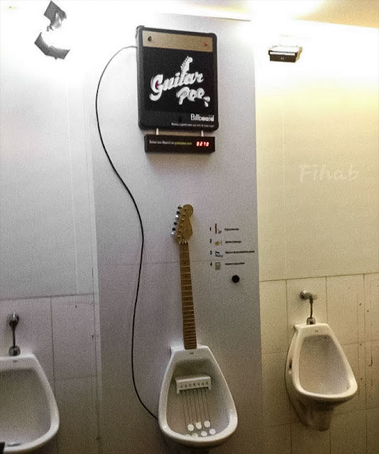 This Bathroom Has A Guitar Urinal That Replays Tunes You Play For Everyone In The Restroom
