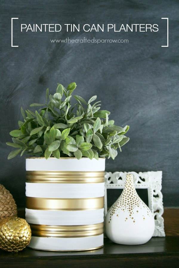 how to make a planter from a tin can