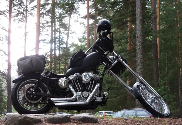 harley davidson sporster 1200 chopper moottoripyörän pakkaaminen musta hd harrikka paumau moottoripyörä pitkä keula