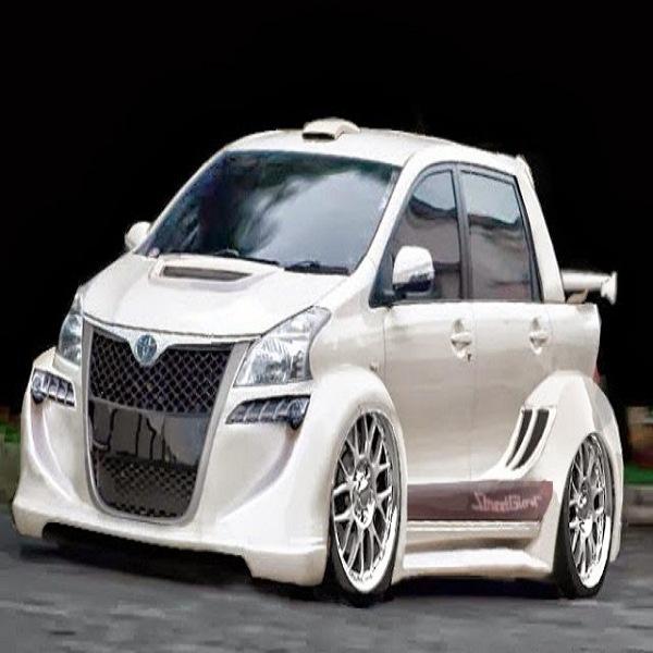 Modifikasi Mobil Agya Trd Warna Putih Hitam Silver Ceper ...