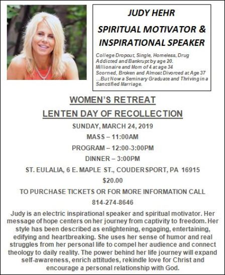 3-24 St. Eulalia Woman's Retreat