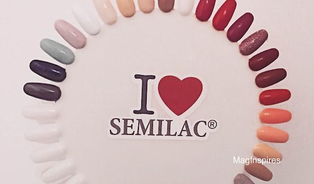 Semilac- moje kolory lakierów hybrydowych