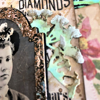 Frilly and Funkie https://frillyandfunkie.blogspot.com/2019/04/saturday-showcase-seth-apters-baked.html Spring Card Tutorial with Tim Holtz 3D Embossing Seth Apter Baked Velvet by Sara Emily Barker 8