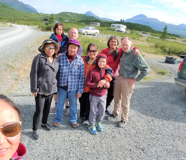 The traveling crews at Tangle Lakes Campground