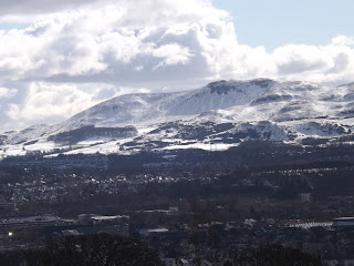 The view from Edinburgh Zoo