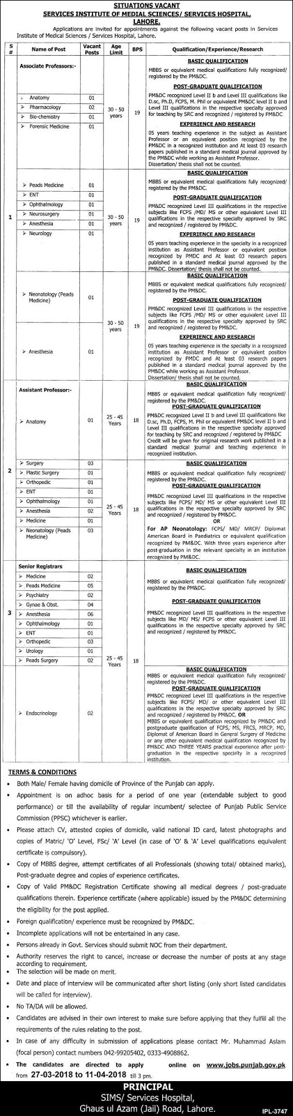 Jobs for Doctors in Punjab, Jobs in Lahore
