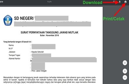 Download atau Cetak SPTJM DHGTK