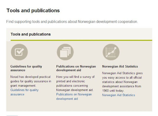 Three choices for Norad's tools and publications