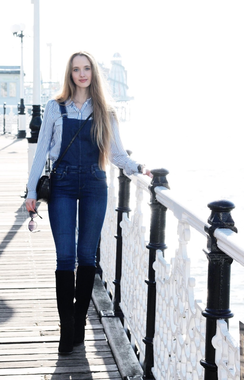 Fashion Blog Styling Denim Dungarees in Winter