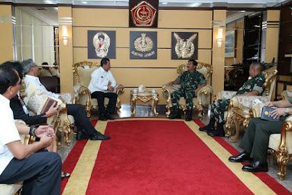 Panglima TNI Terima Kunjungan Kepala BNPB