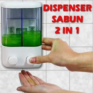 Dispenser sabun cair 2 tabung/ Touch Soap 2in1