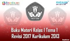 Lengkap - Buku Materi Tematik Kelas 1 Tema 1  Revisi 2017 Kurikulum 2013