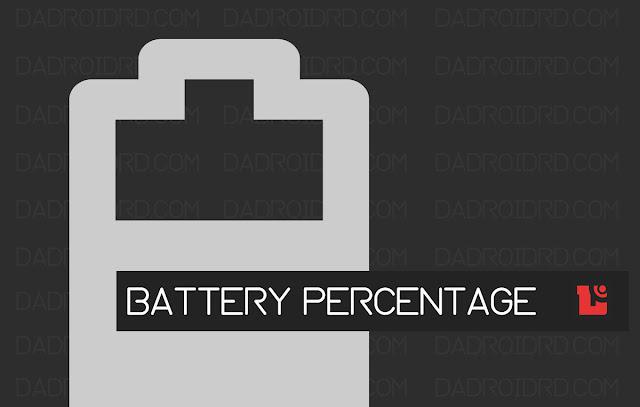 memunculkan indikator battery percentage di Xiaomi Mi A1
