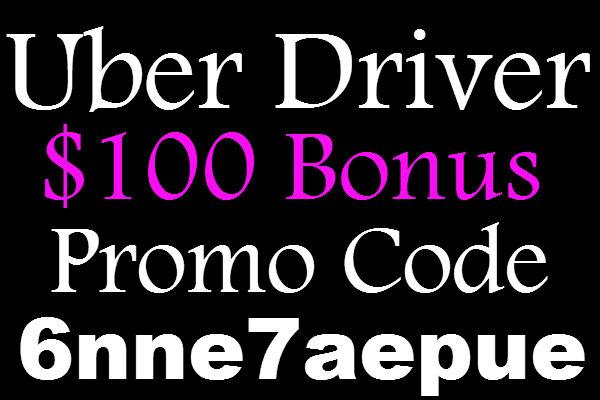 Uber Referral Bonus 2016, Uber Driver Promo Code $100 Bonus, Uber Driver Invite Code, Uber sign up bonus