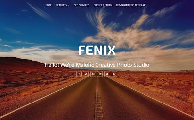 Fenix portifolio blogger template free Responsive