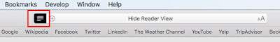 Close or Hide Reader view in new Safari on macOS High Sierra
