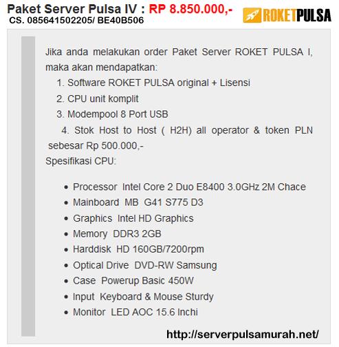 Jasa Pembuatan Server Pulsa di Bandung Harga Murah