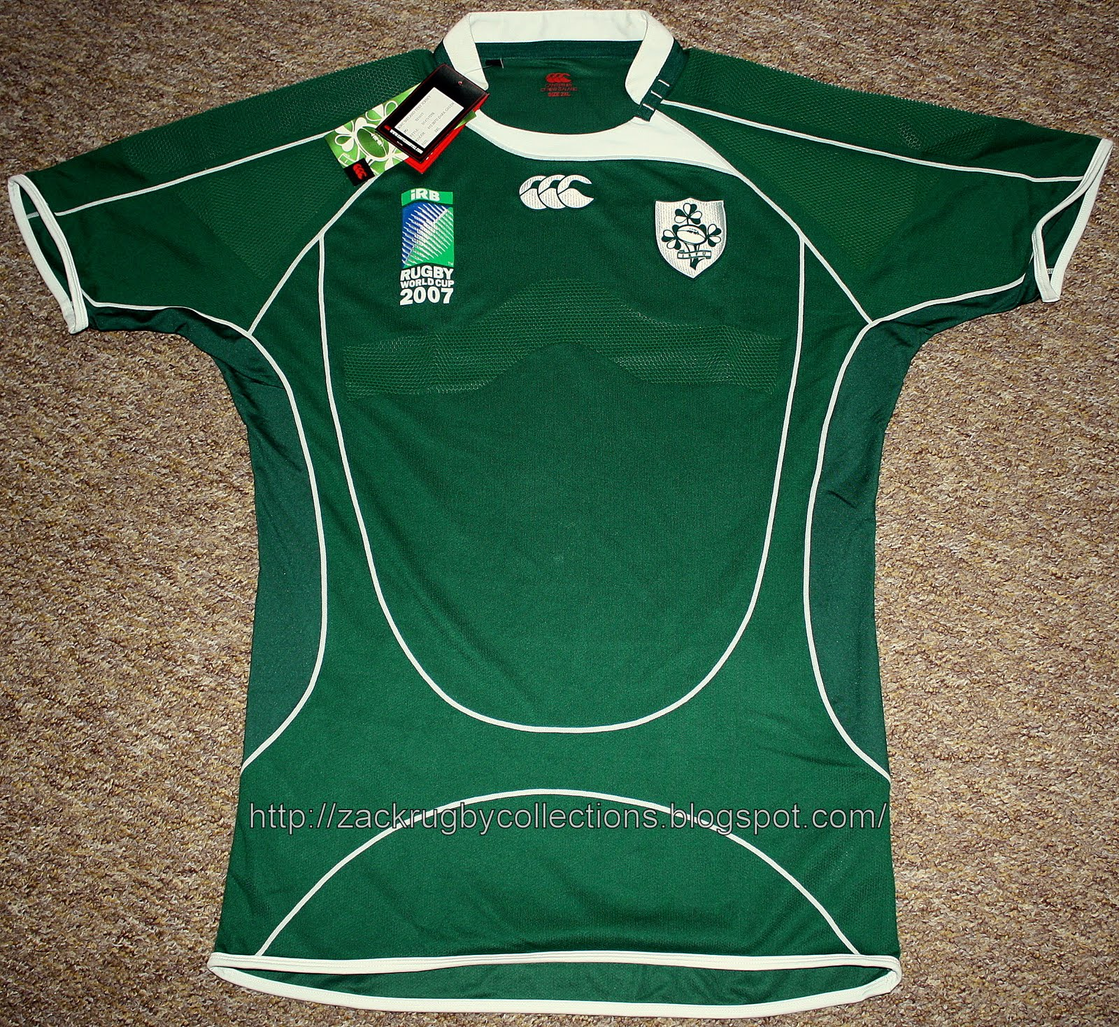 bb27f8c5668 ZackRugby Collections®: Ireland (IRFU) Rugby World Cup 2007 Test ...