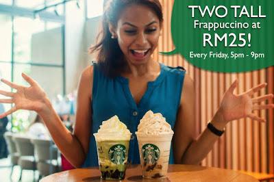 Starbucks Frappuccino RM25 Friday Discount Promo June 2017