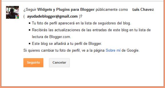 Nuevos cambios en el Gadget Seguidores de Blogger