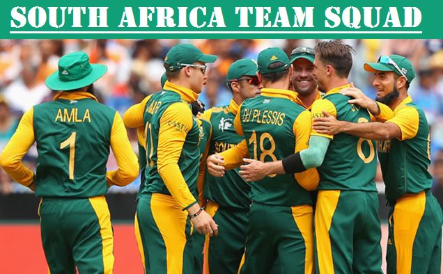 South Africa Squad champions trophy 2017