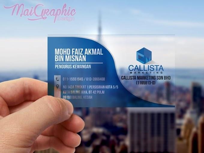 Design dan Cetak Kad Bisnes Callista Marketing