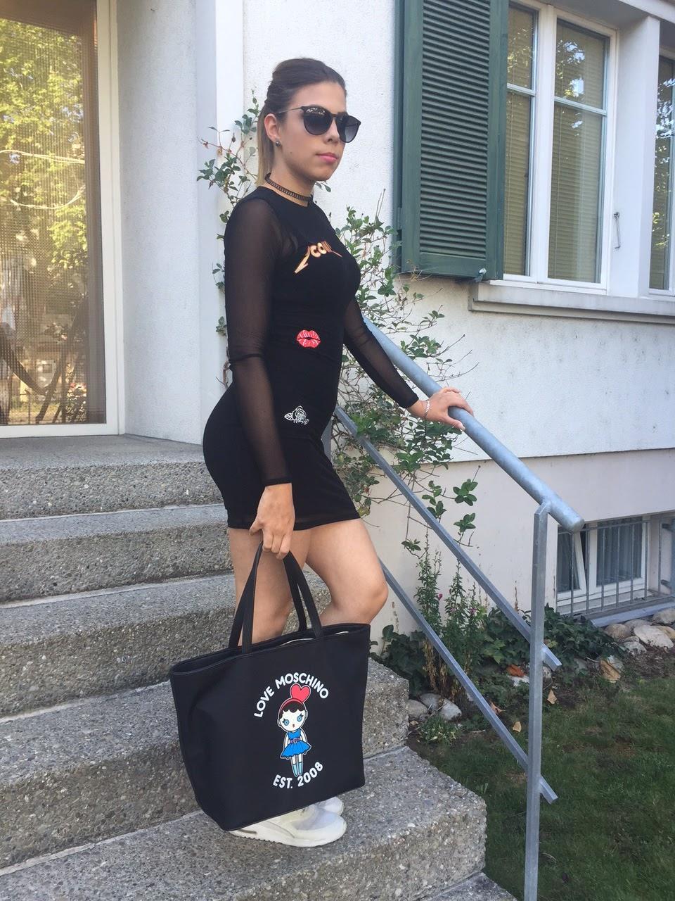 Schwarzes Kleid Mit Blazer Kombinieren Modische Damenkleider