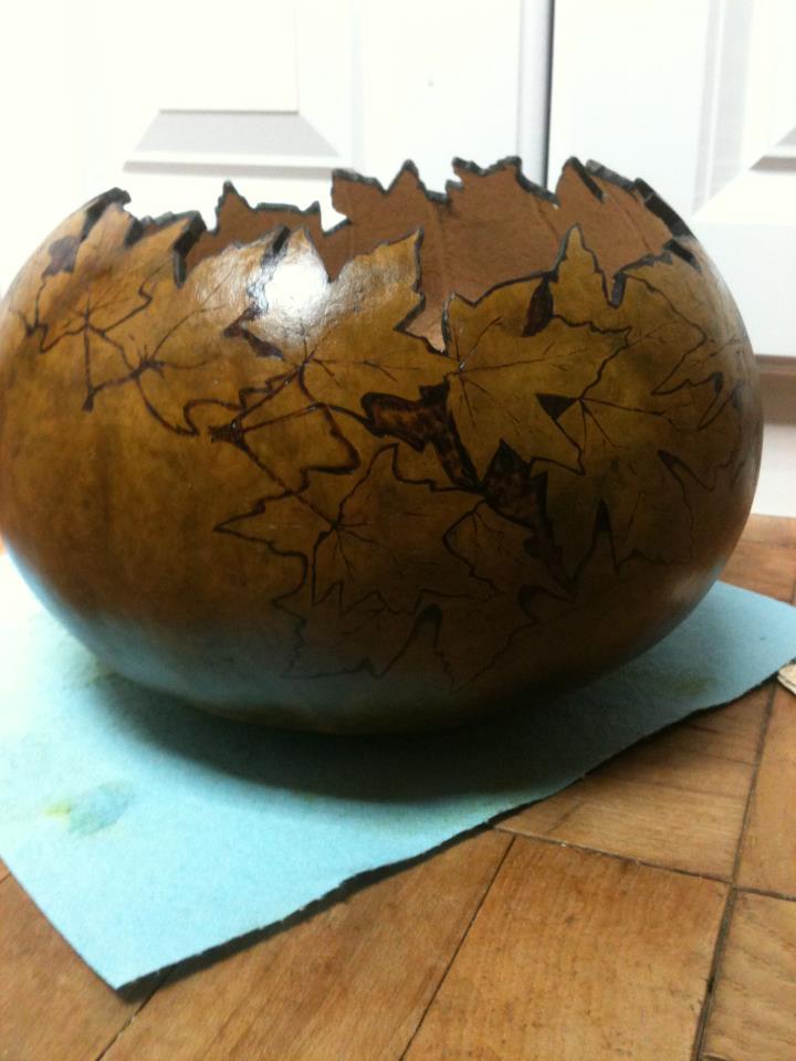Angelsgourden Autumn Leaf Gourd Bowl Tutorial